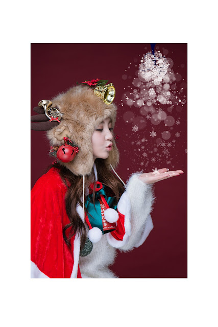 2 Lee Chae Eun - merry christmas - very cute asian girl-girlcute4u.blogspot.com