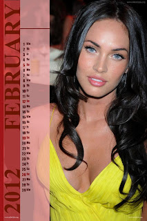 Megan Fox Desktop Calendar 2012