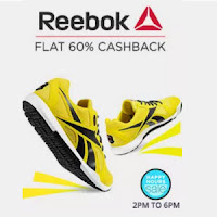 Buy  Reebok Men's Footwear upto 45% Cashback Via  Paytm