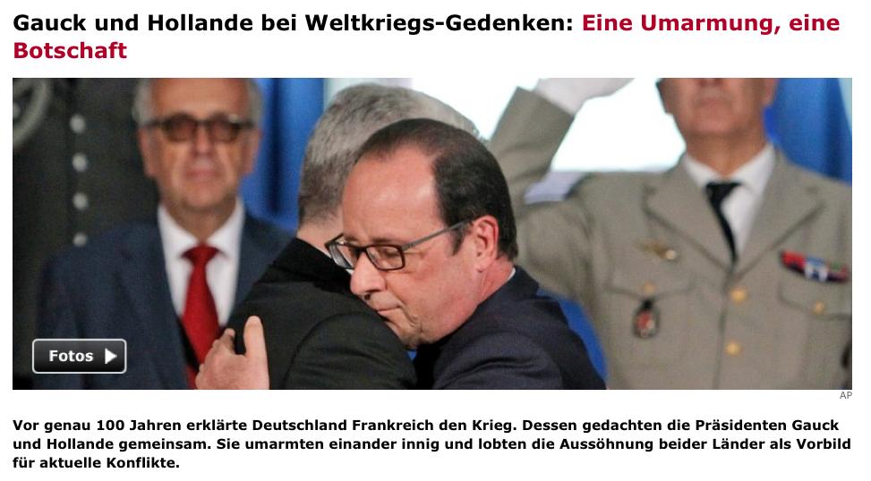 http://www.spiegel.de/politik/ausland/erster-weltkrieg-gauck-und-hollande-loben-aussoehnung-auf-gedenkfeier-a-984259.html