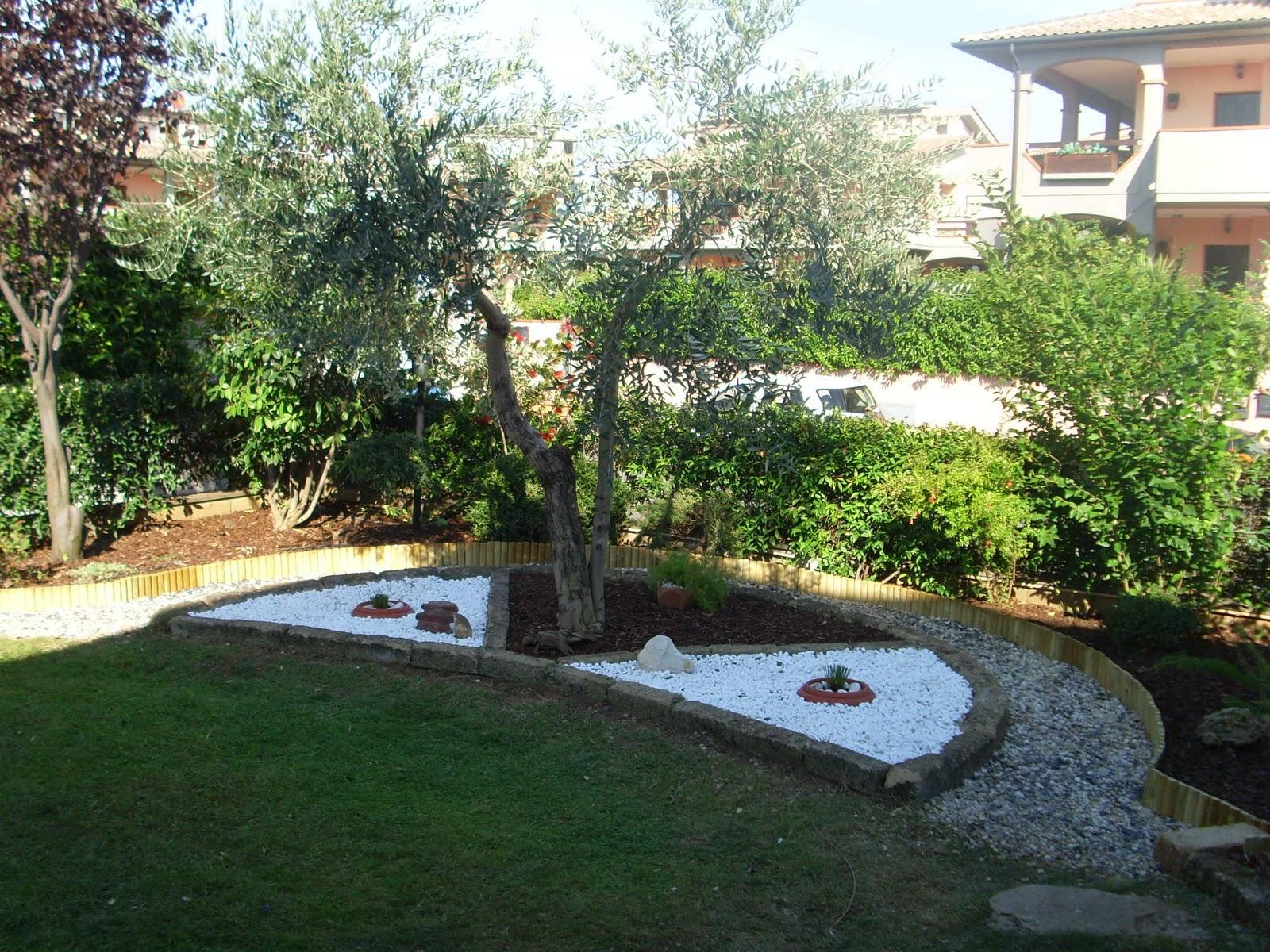 Bianca disegno cucina - Giardino con sassi bianchi ...