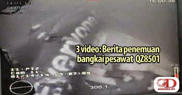 3 Video: Bangkai utama badan AirAsia QZ8501 ditemui di dasar laut