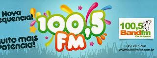 ouvir a Rádio Band FM 100,5 Foz do Iguaçu PR