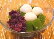 Matcha Shiratama Anmitsu japanese desert recipe