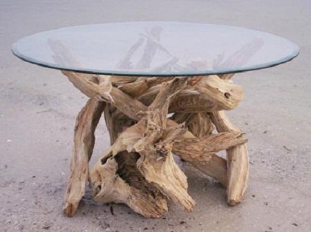 Mesas recicladas muebles de troncos for Mesa de tronco