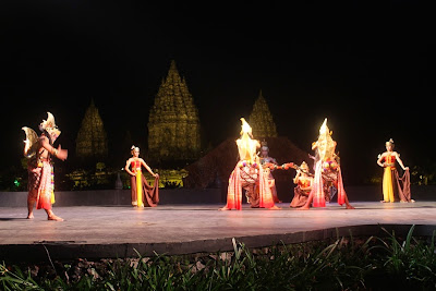 Ramayana Ballet a traditional Indonesian dance performed at Prambanan Temple