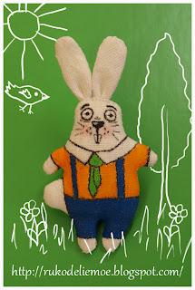 заяц - брошка
