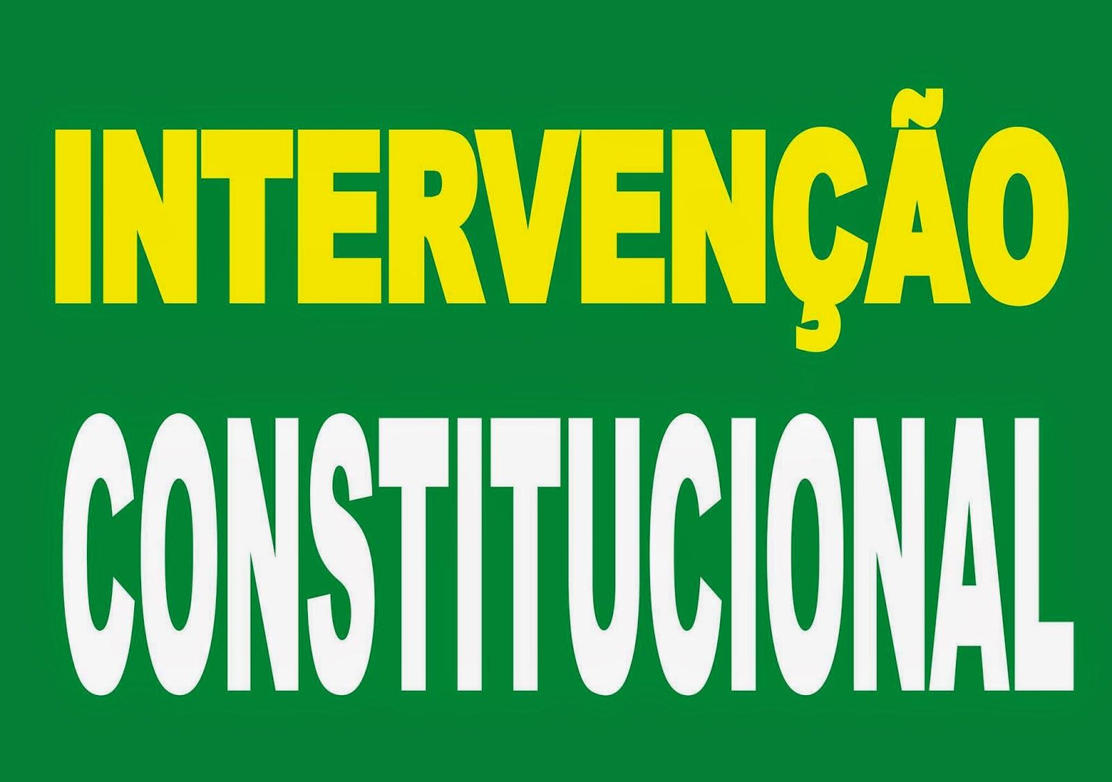 Resultado de imagem para imagem para intervenção constitucional