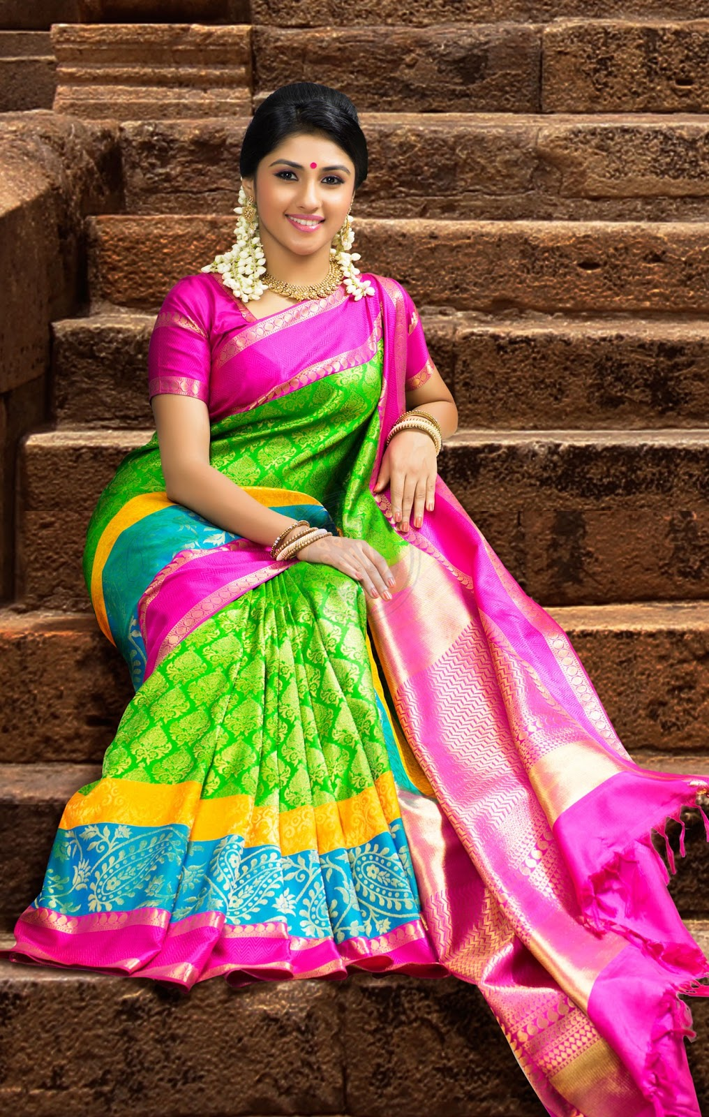 Latest  Chennai Silk Saree Diwali Collections