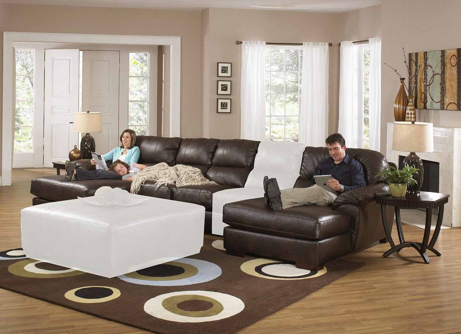 Superieur Sleeper Sectional Sofa U0026 Reclining Loveseat