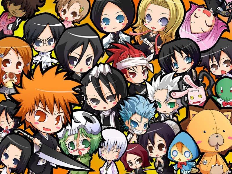 Anime Characters From Bleach : Animasi bleach anime chibi