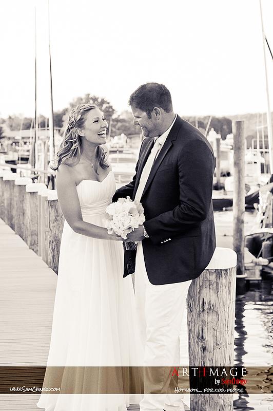 """""""wedding at essex yacht club"""