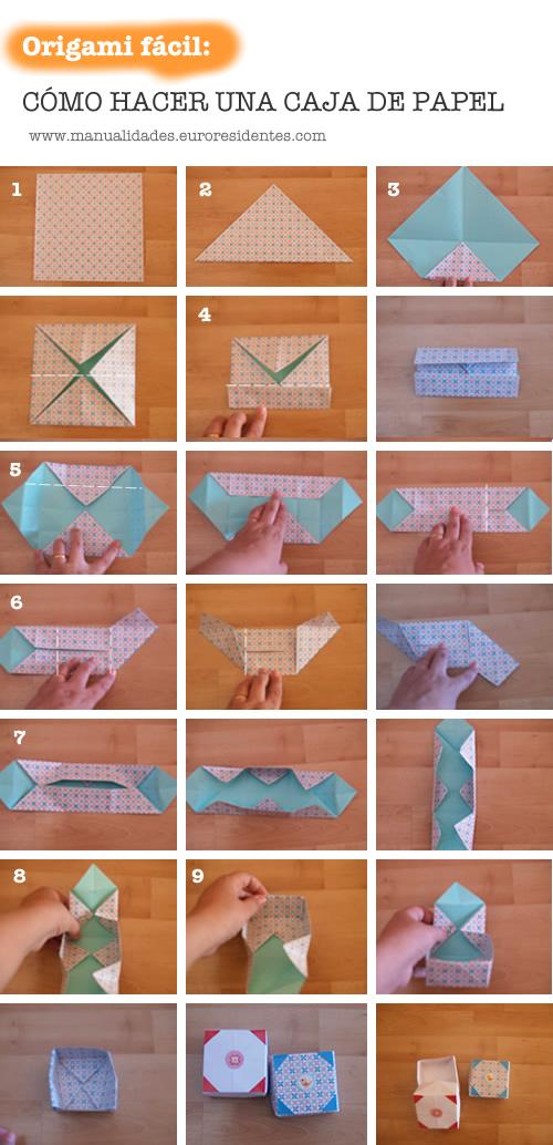 Cómo hacer la base de la cajita de papel: