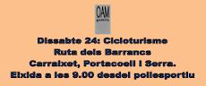 SÁBADO 24, CICLOTURISMO