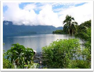 The Legend of Maninjau Lake. Sumatra, Indonesia