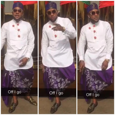 Cool Or Not?: Singer Kcee Steps Out In Wrapper Attire(Photos)
