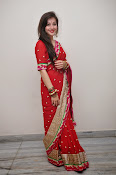 Priyal Gor Dazzling in Red Saree-thumbnail-14