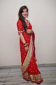 Priyal Gor Dazzling in Red Saree-thumbnail-14