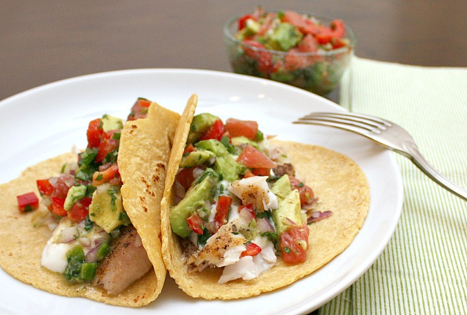 Apple a day fish tacos with grapefruit avocado salsa for Taco bell fish tacos