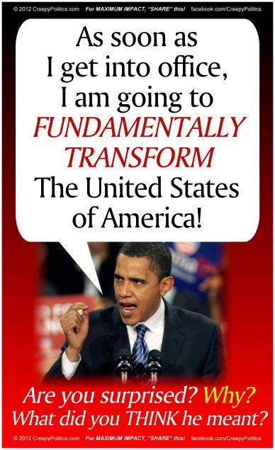 Fundamentally Transforming America |TRUMP LAND aka OBAMA ...