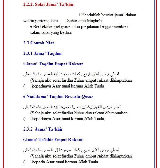 Panduan Solat Qasar Dan Jama' http://www.e-solat.gov.my/solahBM.php