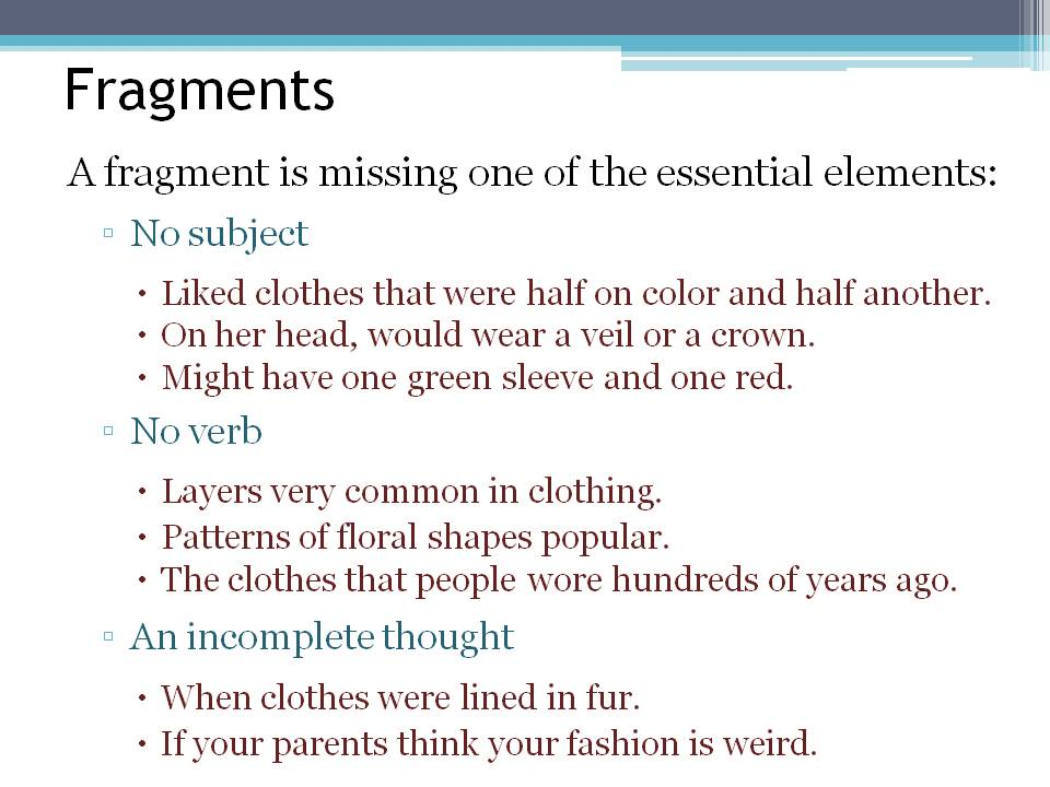 run ons and fragments worksheets