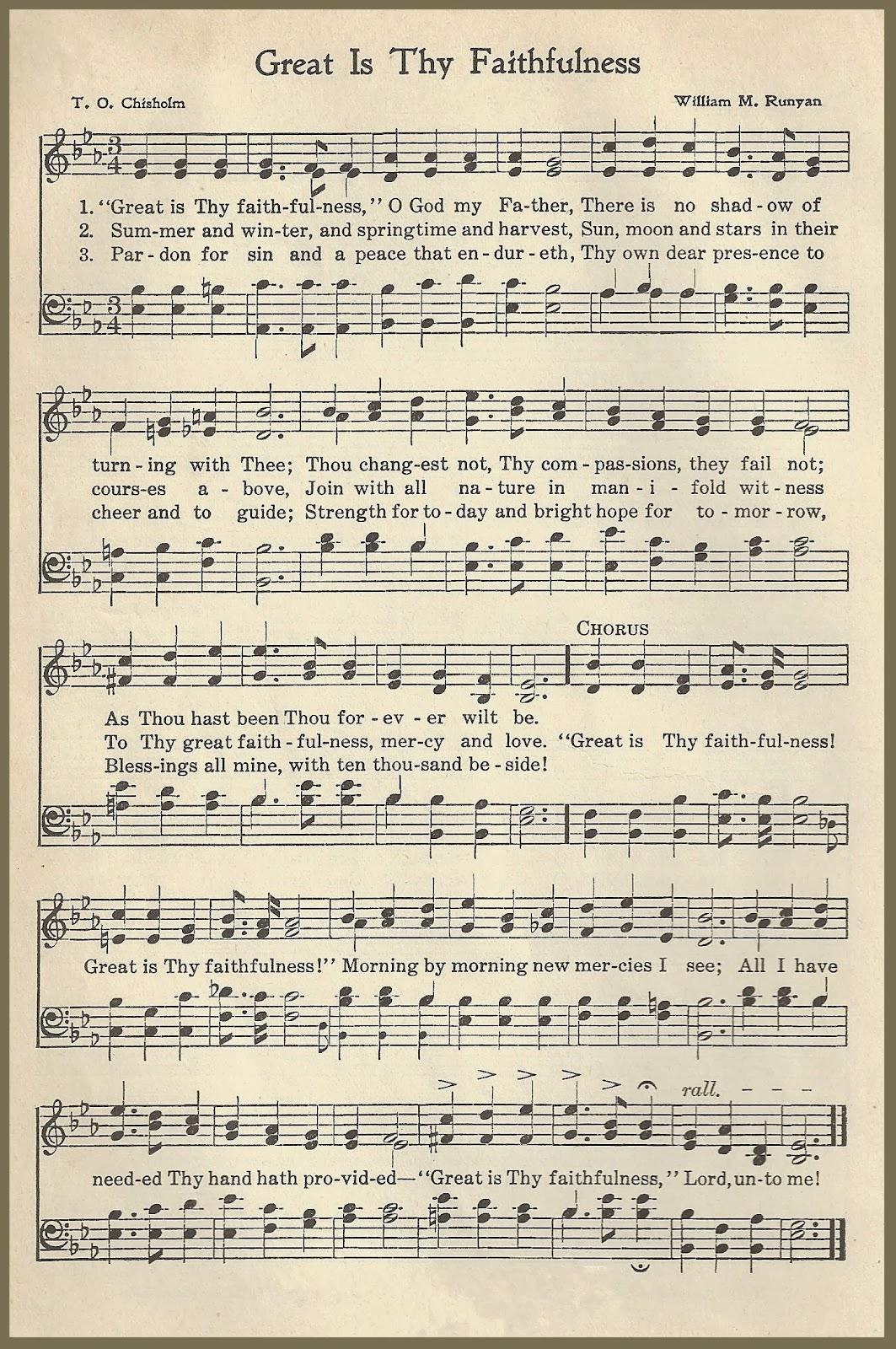 Songs Of Praises Great Is Thy Faithfulness