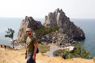 Roca del Chamán Olkhom-Lago Baikal, transiberiano 2015