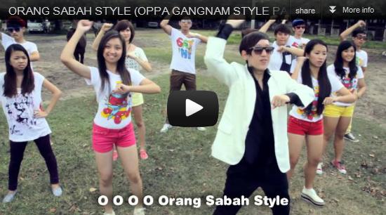Orang Sabah Style (Oppa Gangnam Style Parody) Lyrics