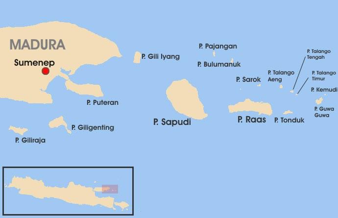 Peta Sumenep Kepulauan Pulau Sapudi
