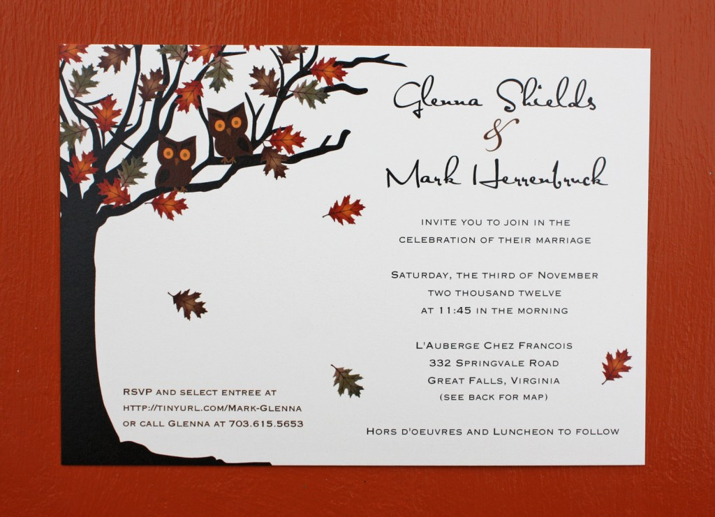 fall wedding invitations - Fall Themed Wedding Invitations