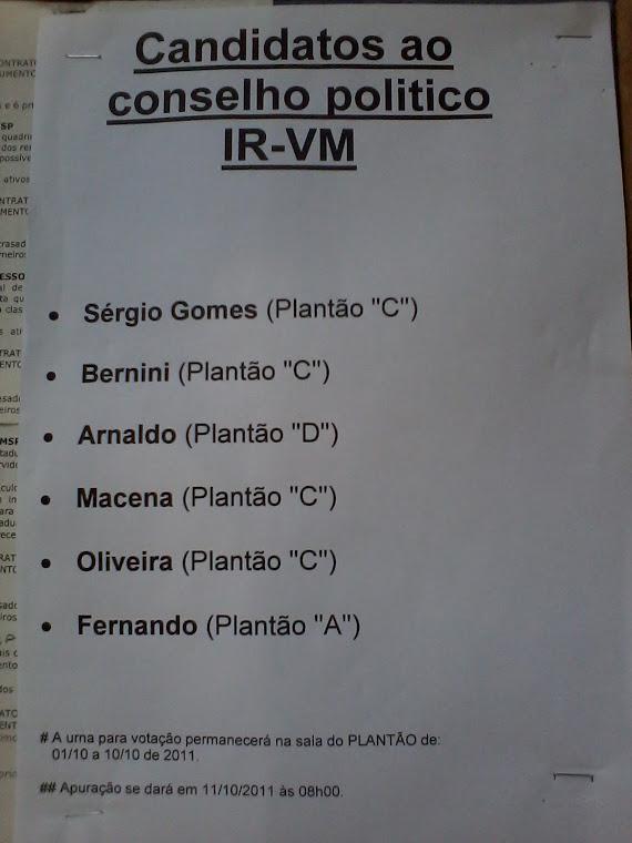 Continuação da Apresentação e Eleição dos candidatos para a Coordenação politica da Vila Mariana