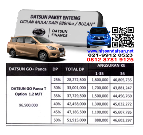 KREDIT DATSUN GO+ PANCA T OPTION 1.2 M&T PAKET ENTENG