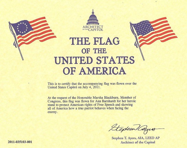 Flag Certificate Template