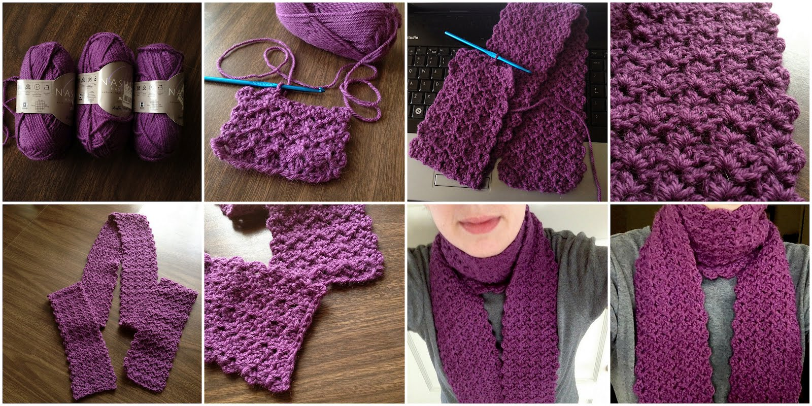 Crocheting Blind: Crochet Project; Surreybelle Scarf