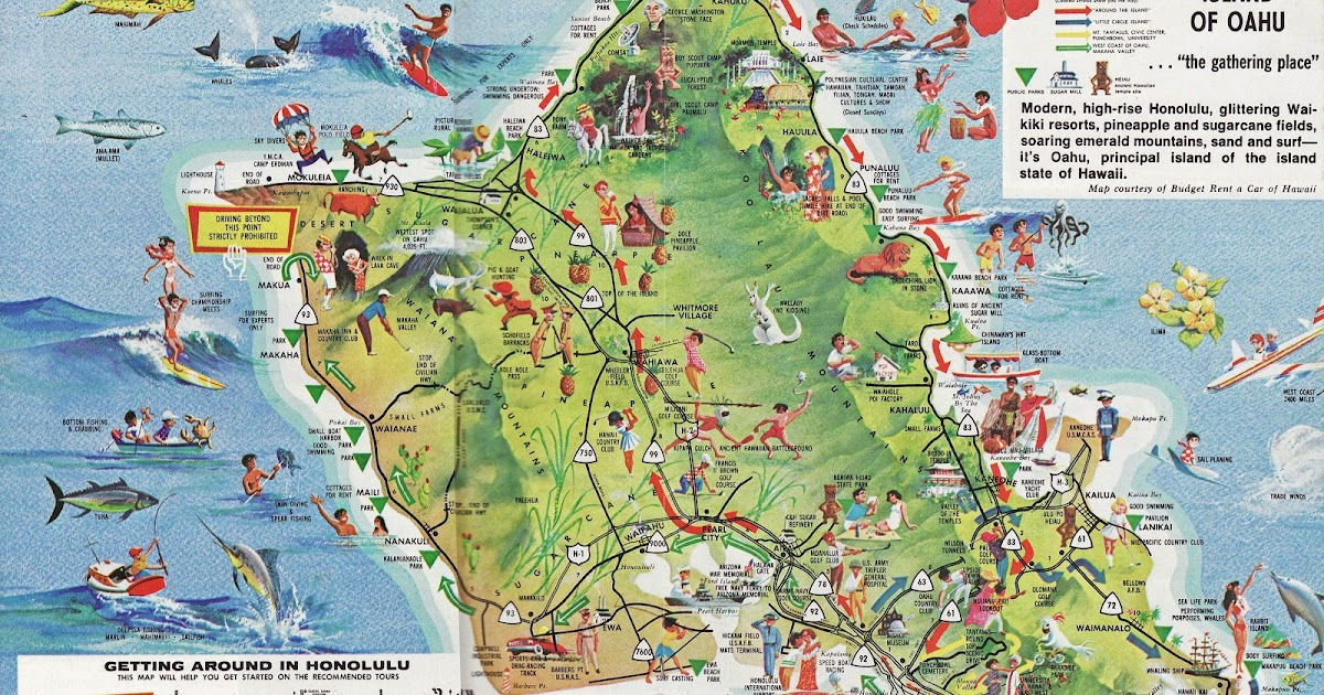 Online Maps Oahu Tourist Map – Oahu Tourist Attractions Map