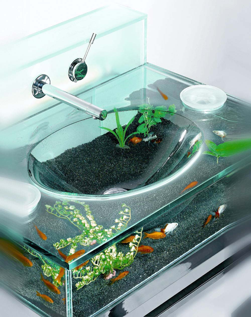 interior design moody aquarium sink