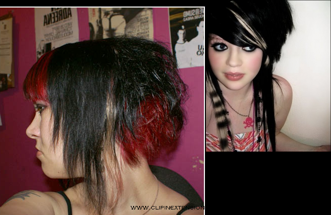 Blonde Hair With Black Extensions 116