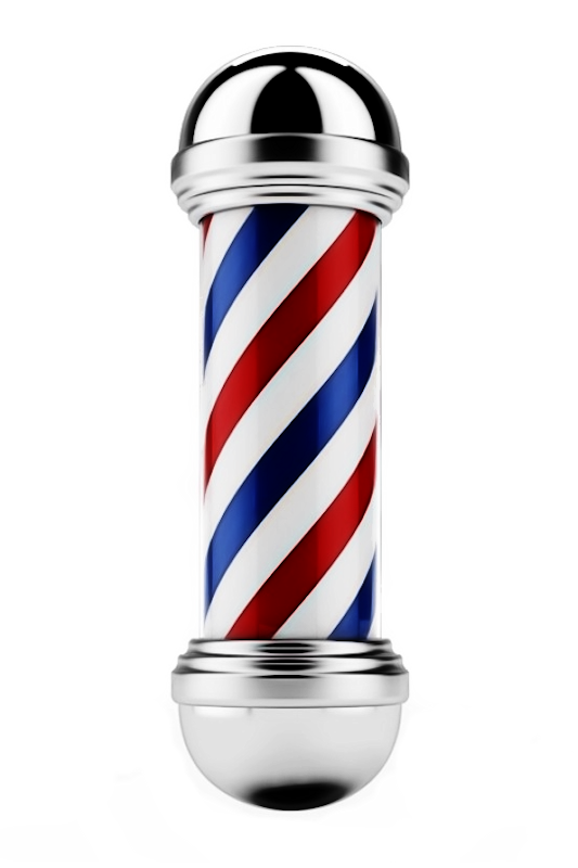 barber shop pole logo barber pole png clipart best