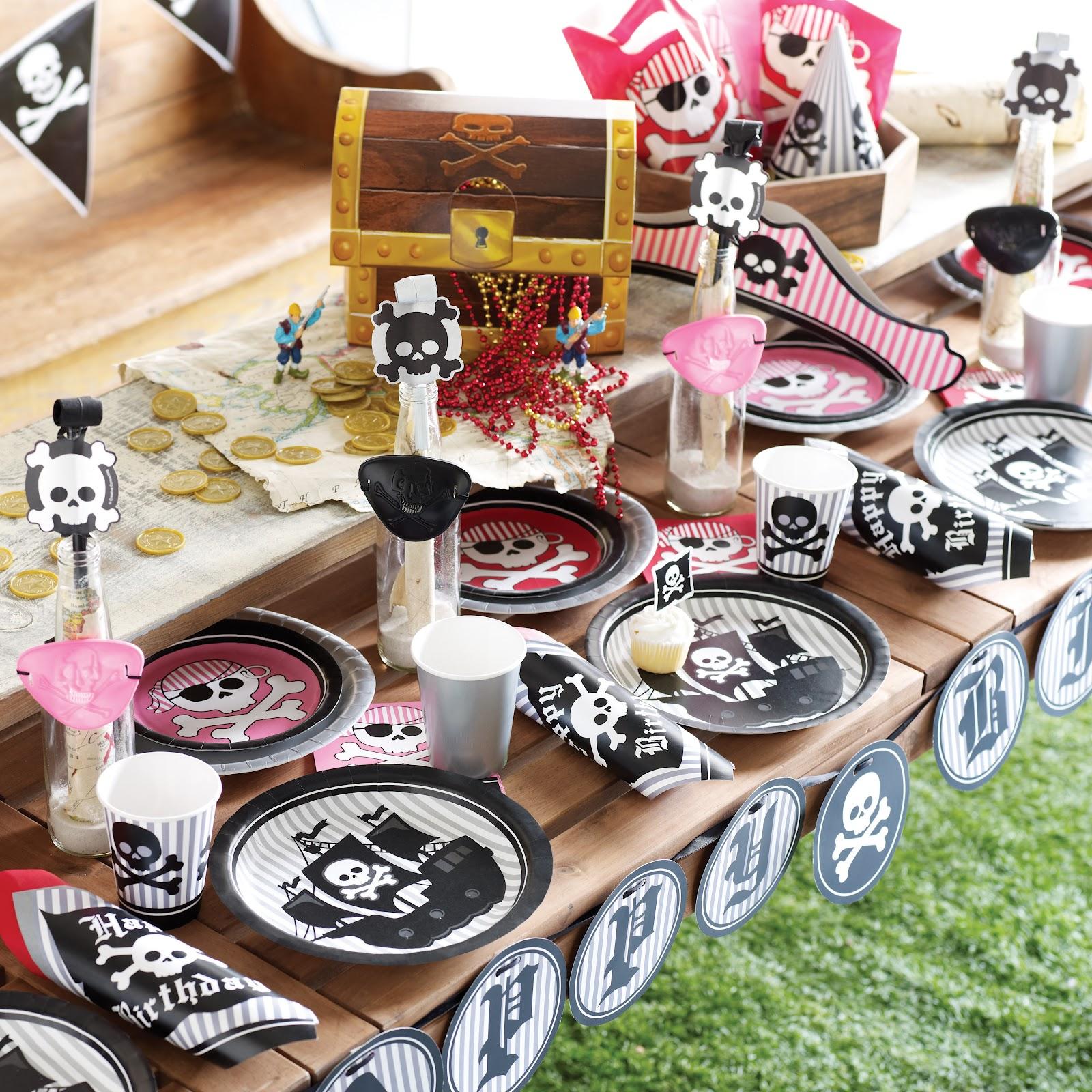 Fiesta pirata para ninas - FIESTAIDEAS.