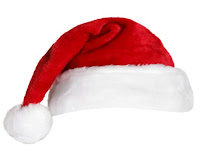 picture of a Santa red and white hat
