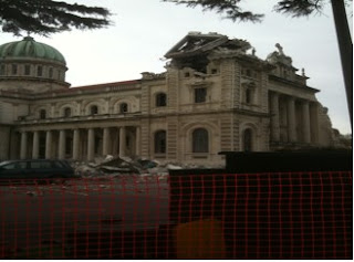 Christchurch Cathedral destroyed by the earthquake. Photo: Kai Kirwin