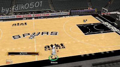 San Antonio Spurs Court Mod for NBA 2K13 PC