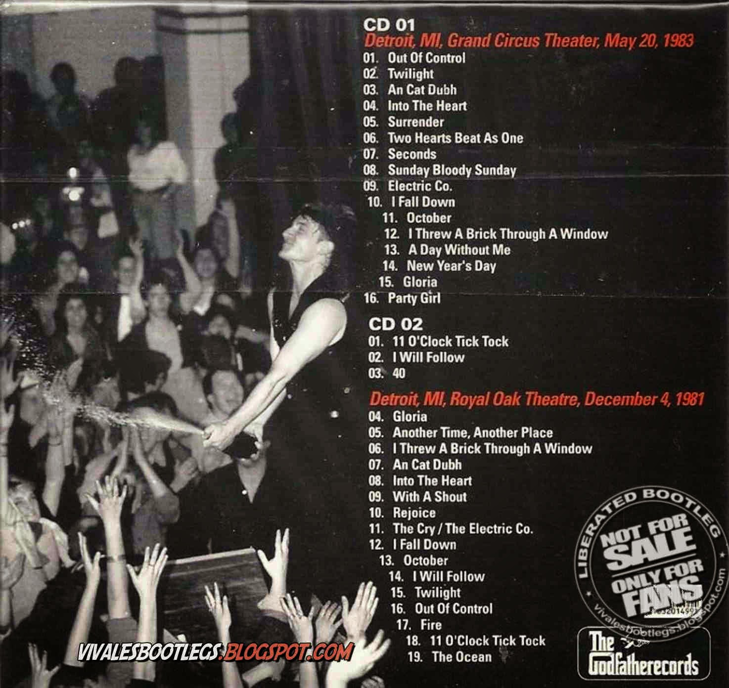 u2 detroit rock city  back cover