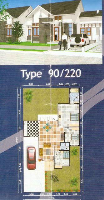 rumahku 1 denah desain rumah minimalis type 90