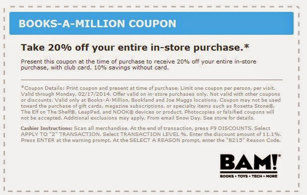 Books a million discount coupons
