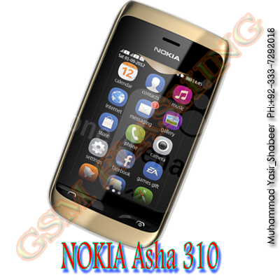 Nokia Asha310 RM-911 MCU PPM CNT Latast Flash File v7.37