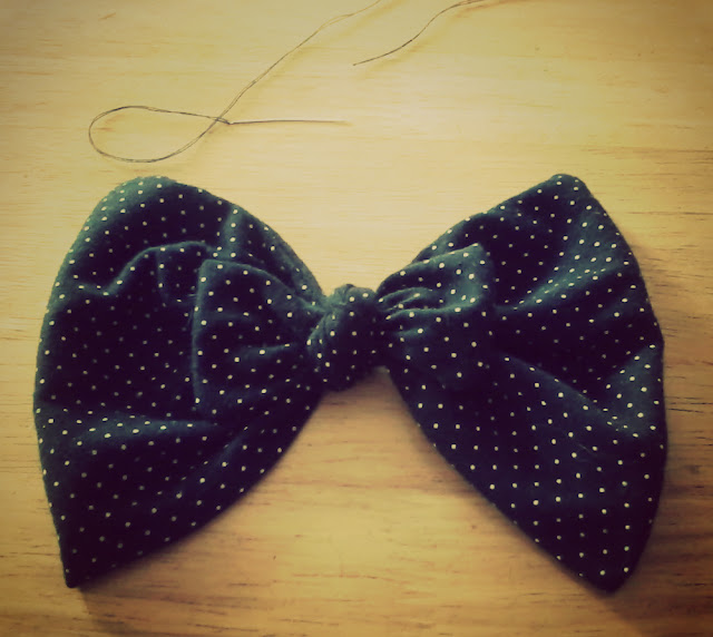 recycled fabric bow