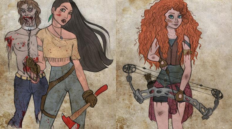 Walking Disney: Personajes de Disney sobreviven en un mundo apocalíptico