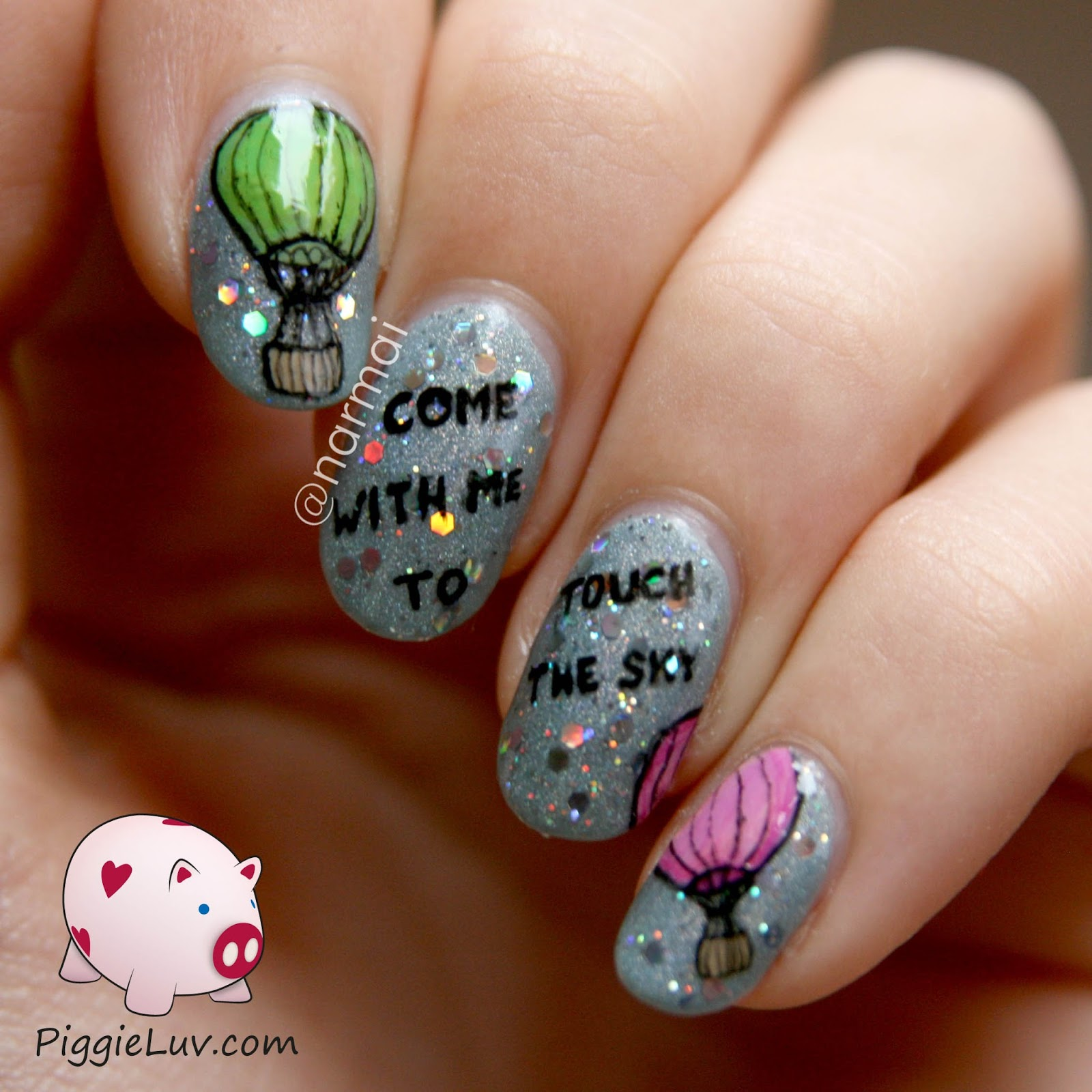 Piggieluv hot air balloon nail art stress getting to you do you need to get away for a bit well now you can with this brand new hot air balloon nail art prinsesfo Images